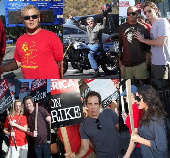 Ben Stiller, Jay Leno, Jack Black, Matthew Perry and Lisa Kudrow Join Writers Strike