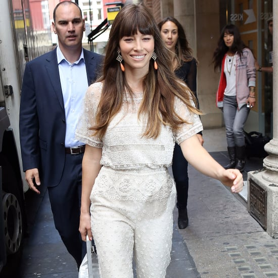 Jessica Biel Total Recall Press Tour in London