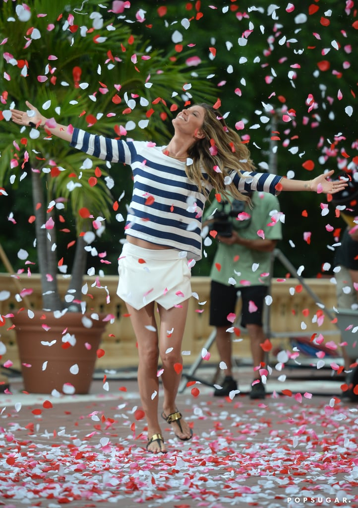 Gisele Gets Showered in Rose Petals — but Not by Tom