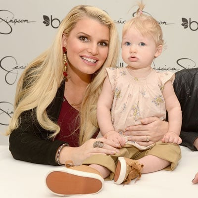 Jessica Simpson and Maxwell Johnson at the Mall