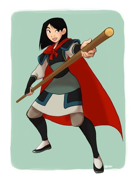 Mulan in Li Shang's Clothing