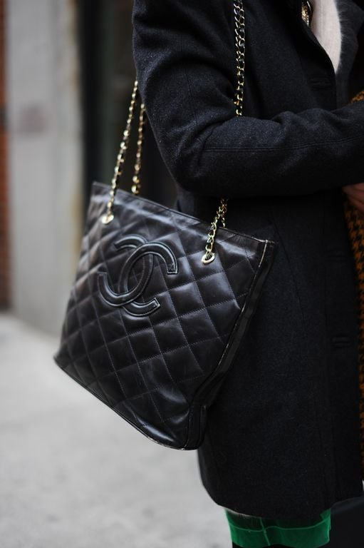 A black chain-strap Chanel bag will never go out of style.