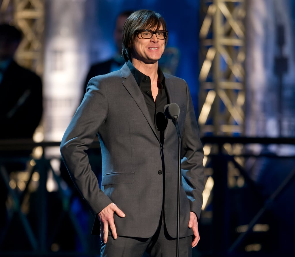 Jim Carrey got funny at the Comedy Awards in NYC.