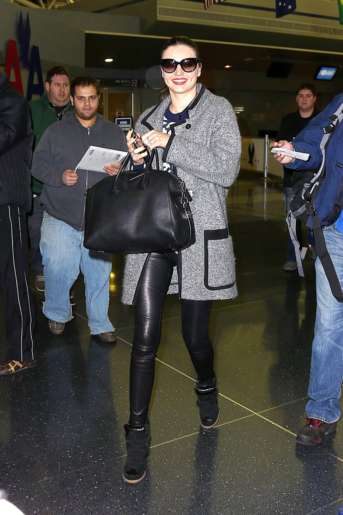 The perfect time to pull on sneaker wedges? At the airport.