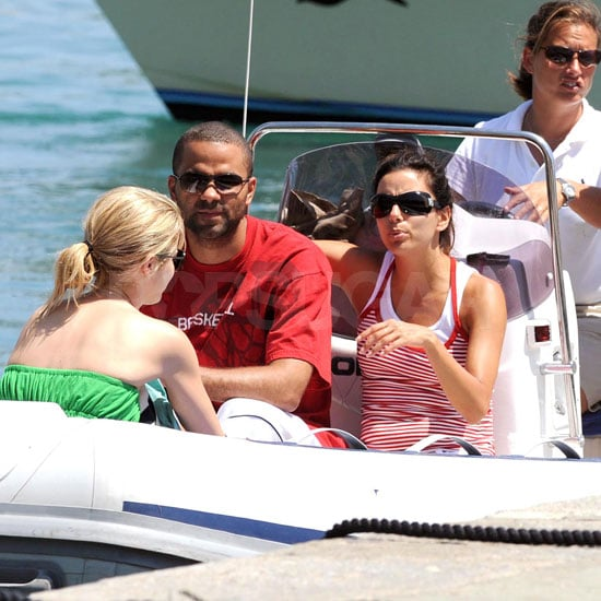 Eva Longoria and Tony Parker Take a Boat Ride in Italy