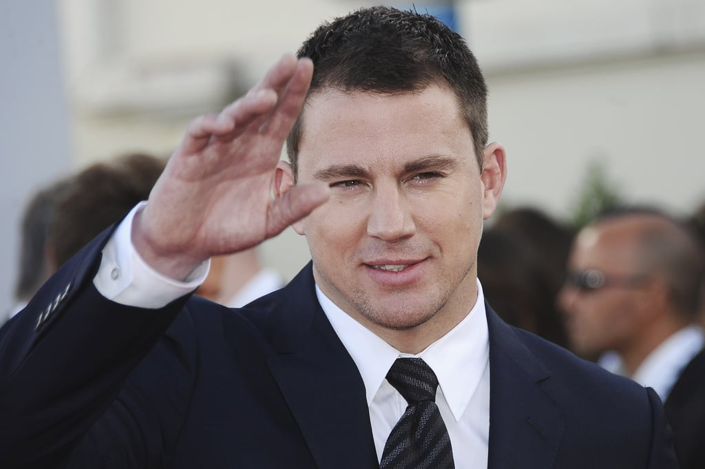 Channing Tatum waved at the premiere for White House Down.