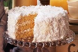 Coconut Cream Cake - The Lesser Evil