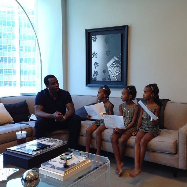 Diddy shared a sweet afternoon in his office with his three daughters. Source: Instagram user iamdiddy