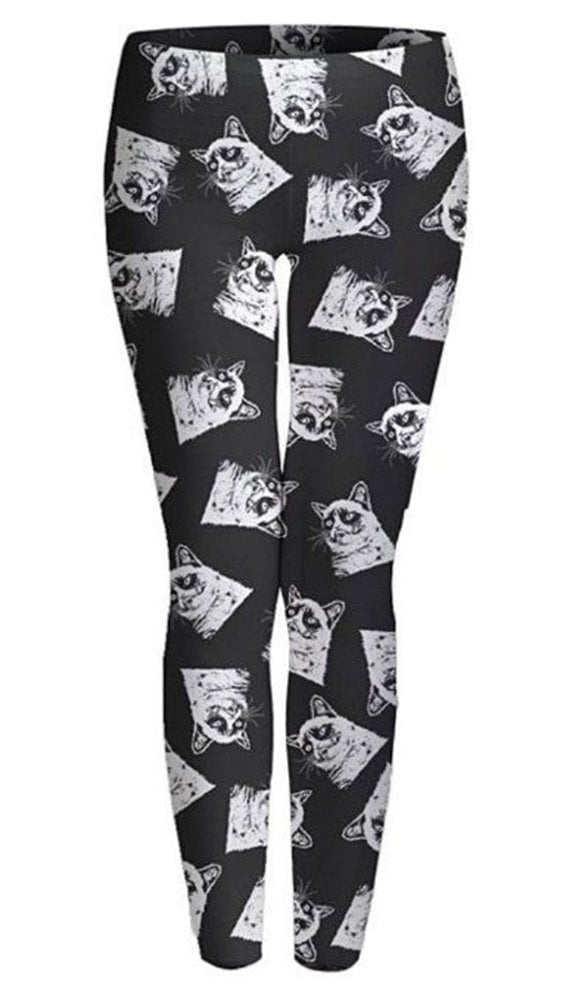 Grumpy Cat might not be happy about these leggings ($25), but we sure are.