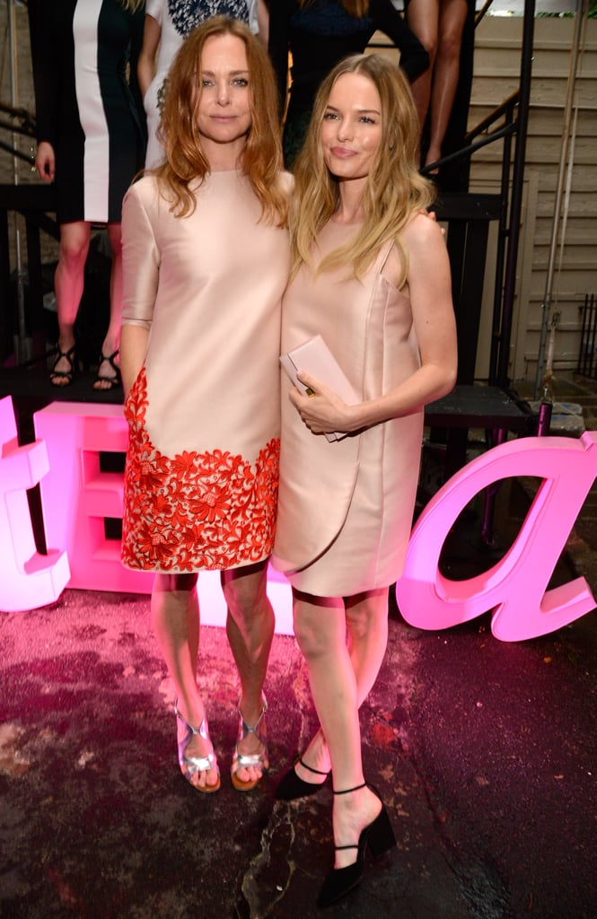 Designer Stella McCartney and Kate Bosworth both donned gorgeous soft pink Stella McCartney dresses at the Resort 2013 collection party in NYC.