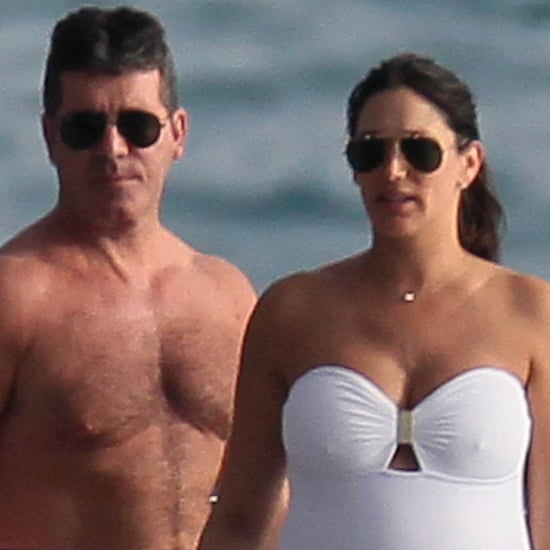Shirtless Simon Cowell and Pregnant Lauren Silverman