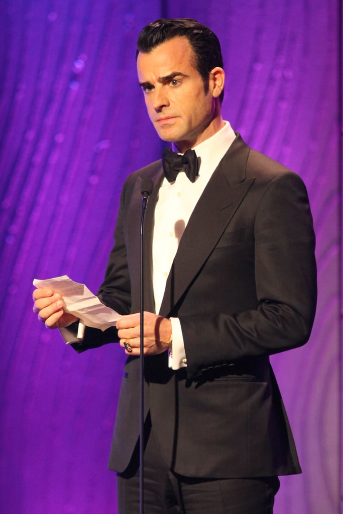 Justin Theroux was on stage at the awards.