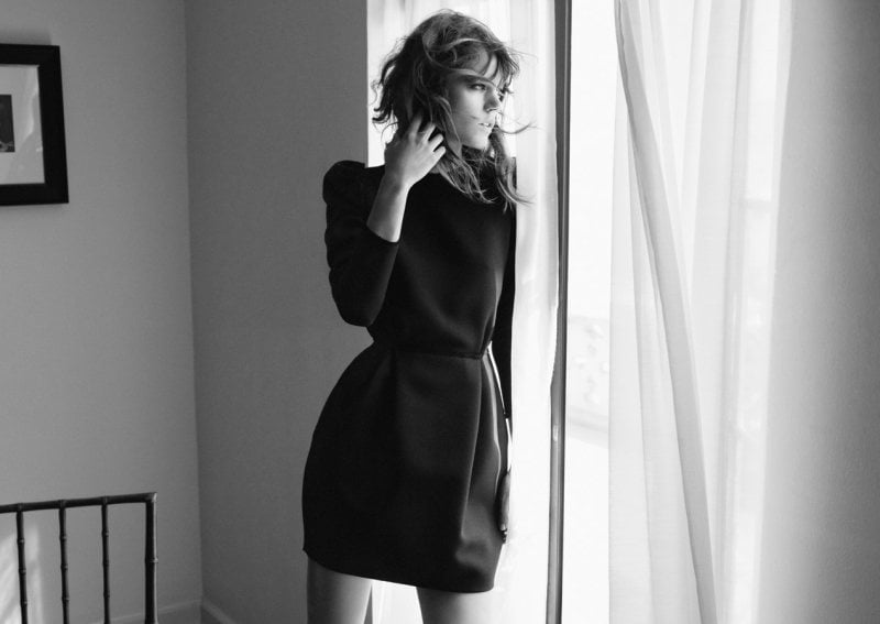 Freja Beha Erichsen stuns in crisp Zara pieces for the brand's Fall campaign.