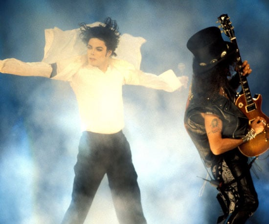 """Slash played the guitar while Michael Jackson sang """"Black or White"""" in 1995."""