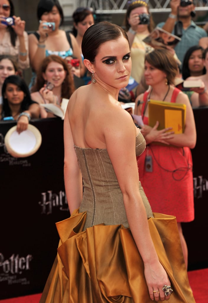 Emma Watson's smoky-eye makeup at the Harry Potter and the Deathly Hallows Part 2 premiere in NYC.