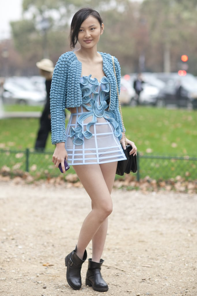 A look-at-me outfit that was made for PFW.
