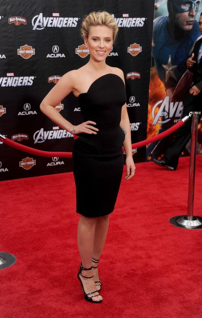 Scarlett Johansson at The Avengers LA premiere, 2012