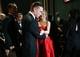 Channing Tatum and Jennifer Aniston backstage at the 2013 Oscars.