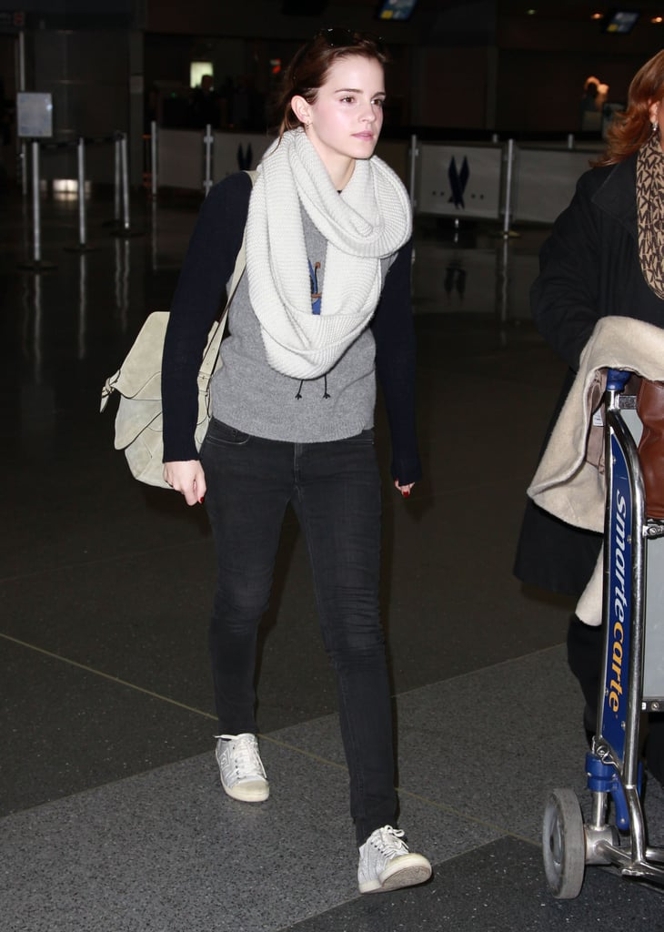 Emma Watson arrived in NYC.