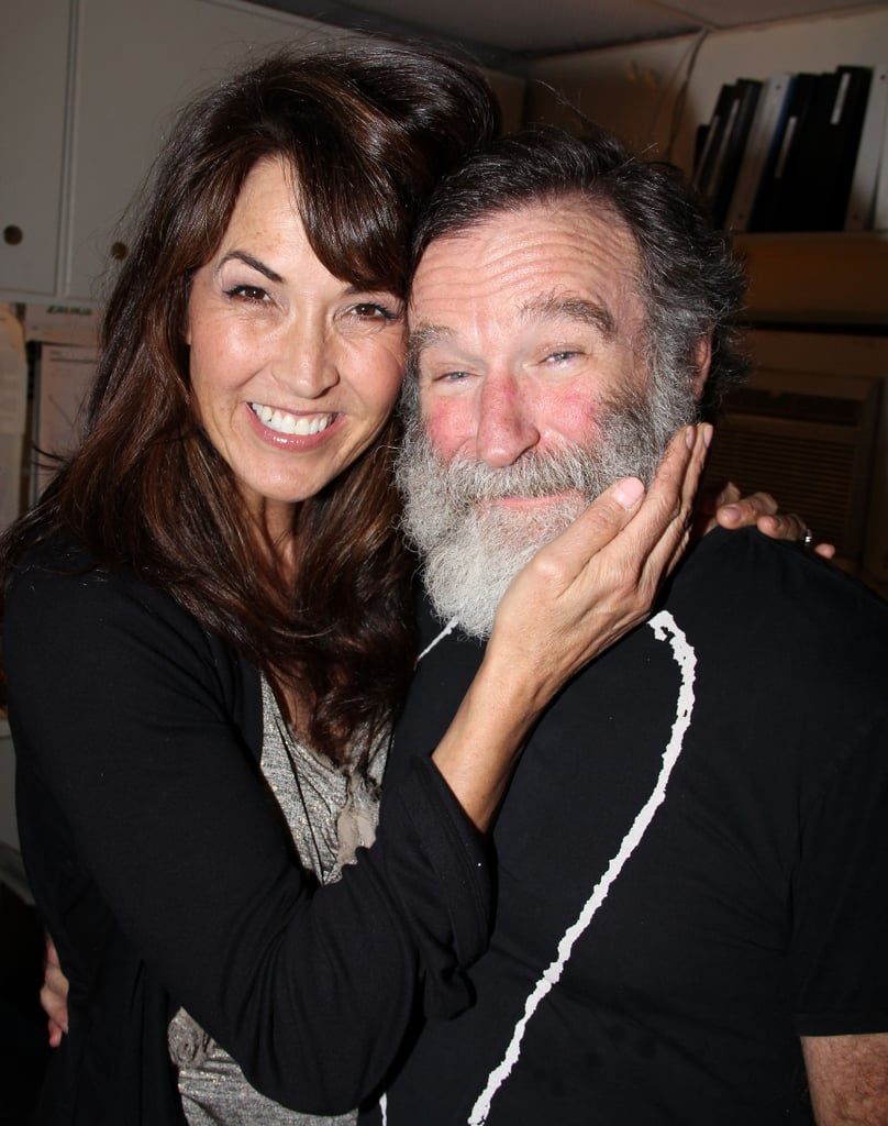 Robin's wife, Susan Schneider, paid him a visit backstage at his hit Broadway play Bengal Tiger at the Baghdad Zoo during its run in June 2011.