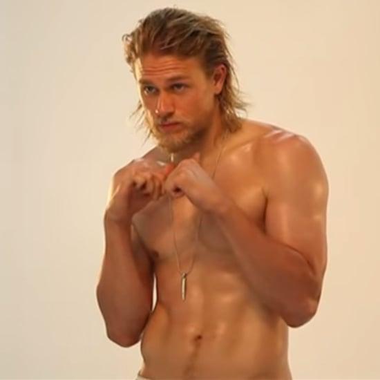 Charlie Hunnam's Men's Fitness Cover Shoot   Video