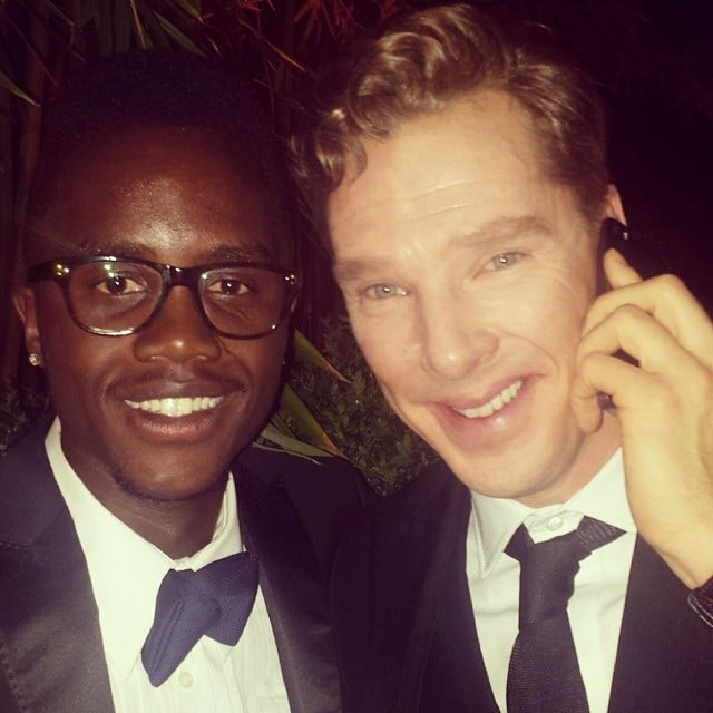 Lupita Nyong'o's brother snapped a selfie with Benedict Cumberbatch while they were calling a ride home. Source: Instagram user nyongolaflame
