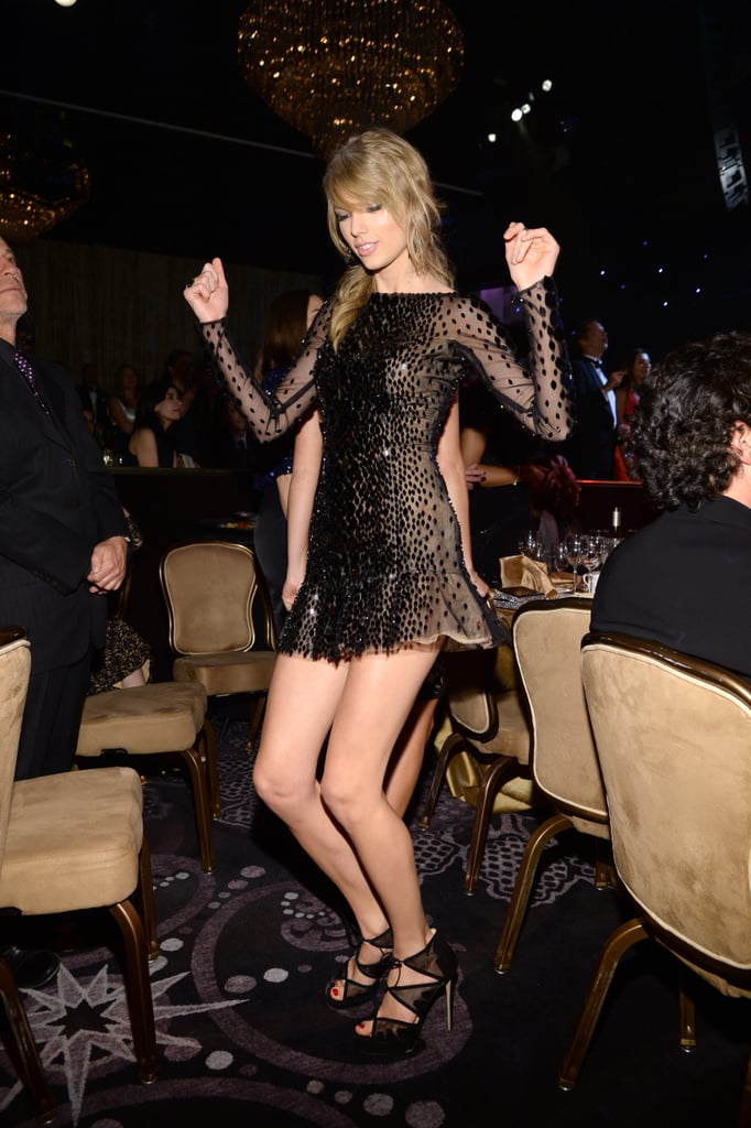 Stage or no stage, Taylor Swift was determined to dance.
