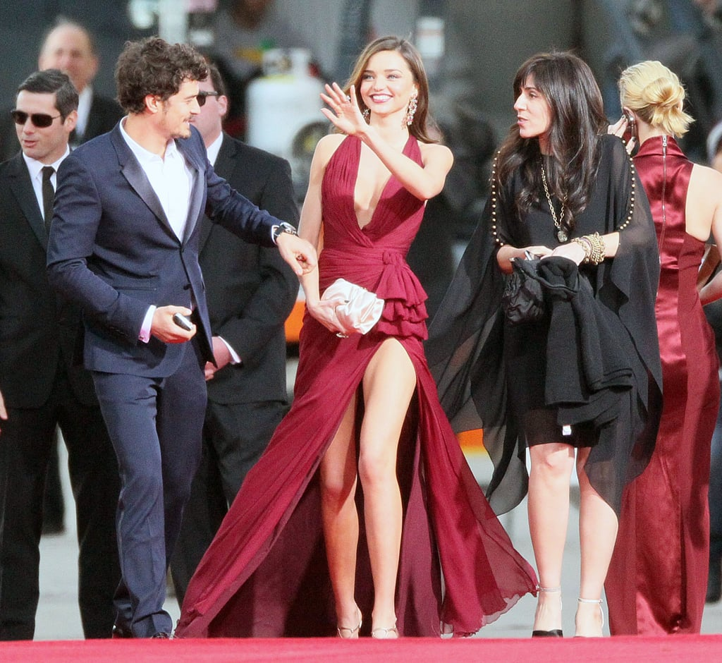 Miranda Kerr and Orlando Bloom arrived at the Golden Globes.