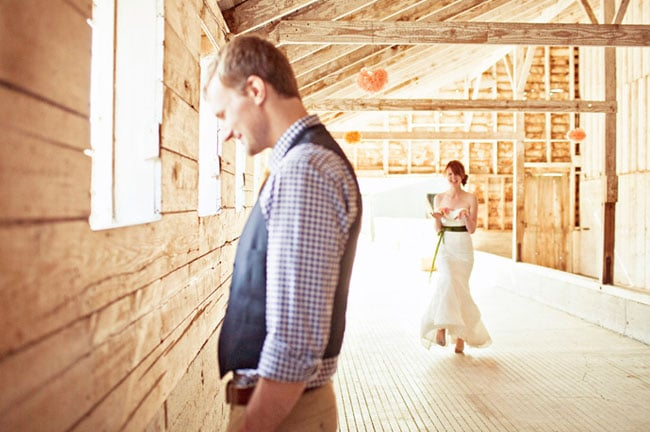 Love her expression.  Photo by Jagger Photography via Green Wedding Shoes