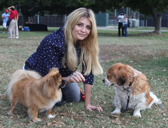 Mischa Barton Poses With Charlie and Ziggy