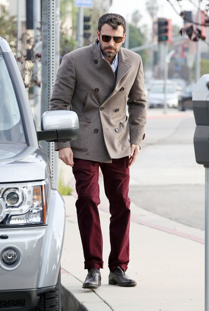 Ben Affleck stepped out in a gray coat in LA.