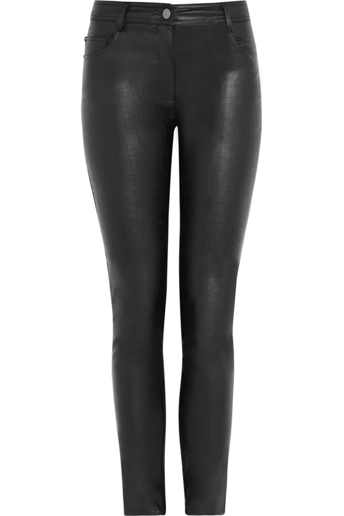 A perfect pair of (faux) leather pants that we could live in all season.  Karl Pacey Faux Leather Mid-Rise Skinny Pants ($200)