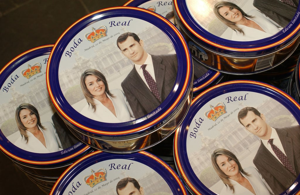 Ahead of the couple's royal wedding, souvenirs popped up in stores across Spain.