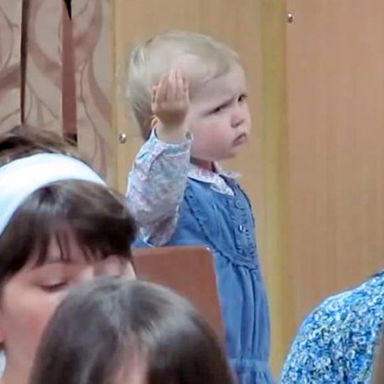 Little Girl Conducting Church Choir | Video