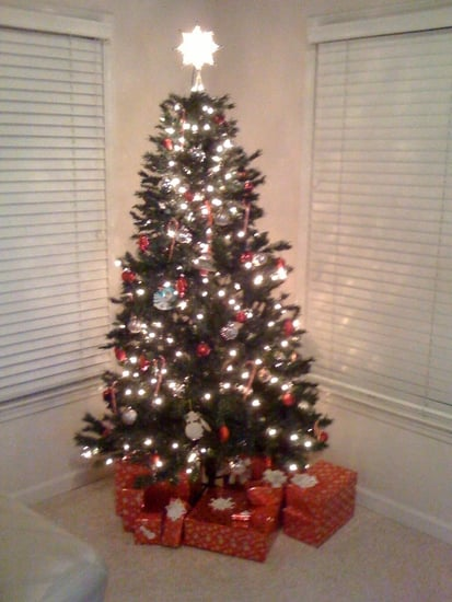 Our classy little Christmas tree!
