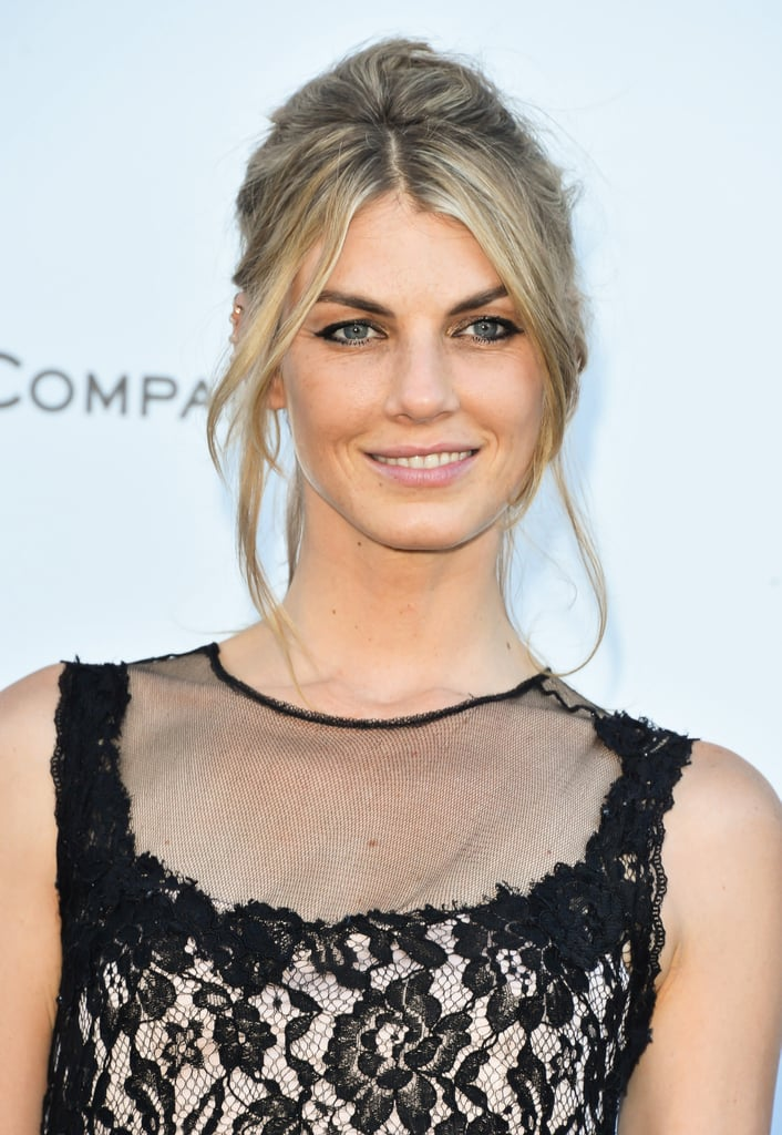 Model Angela Lindvall's sexy updo and black eyeliner felt like a modern take on Brigitte Bardot's signature look.