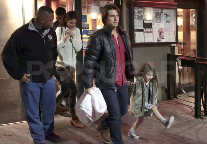 Tom Cruise and Katie Holmes Take a Bandaged Suri to Thai Food