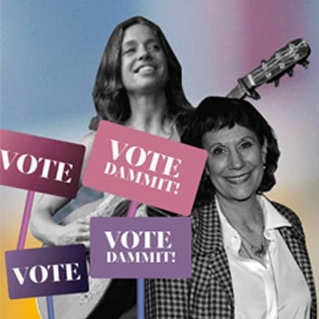 """Ani DiFranco, Lizz Winstead, and Chastity Brown Want You to """"Vote Dammit!"""""""