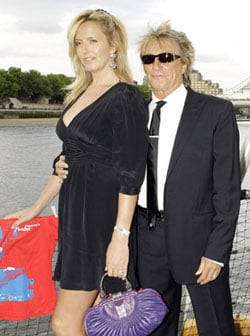 Pictures of Rod Stewart Who Is to Become a Father Again as Penny Lancaster Is Pregnant