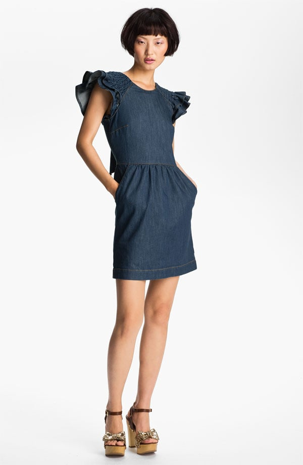 This RED Valentino denim dress ($495) features the most adorable ruffle sleeves, which set it apart from the rest of our picks.