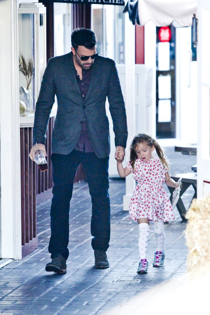 Ben Affleck and Seraphina Affleck walked hand in hand at Brentwood Country Mart.