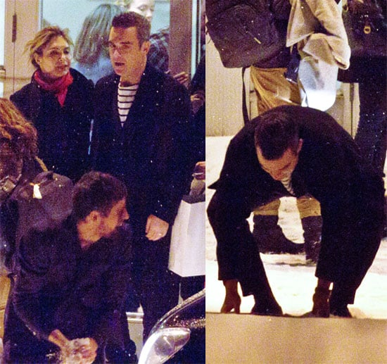 Pictures of Take That Having a Snowball Fight in Stockholm, Sweden
