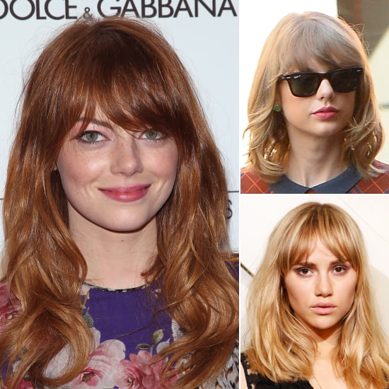 Celebrity Fringe Hairstyles For Autumn 2014