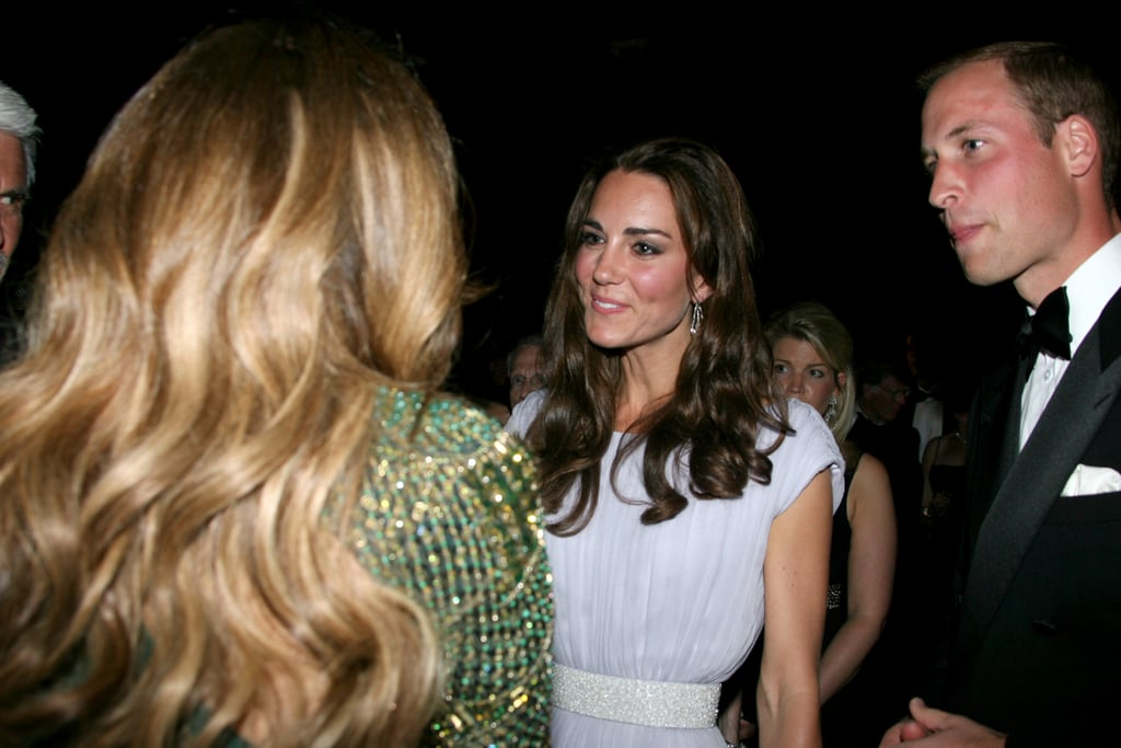 Kate Middleton and Prince William with Jennifer Lopez at the BAFTA Brits to Watch event in LA.