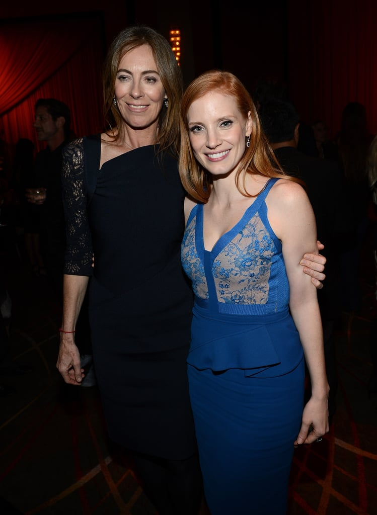 Kathryn Bigelow and Jessica Chastain hit the after-party for new film Zero Dark Thirty on December 10.