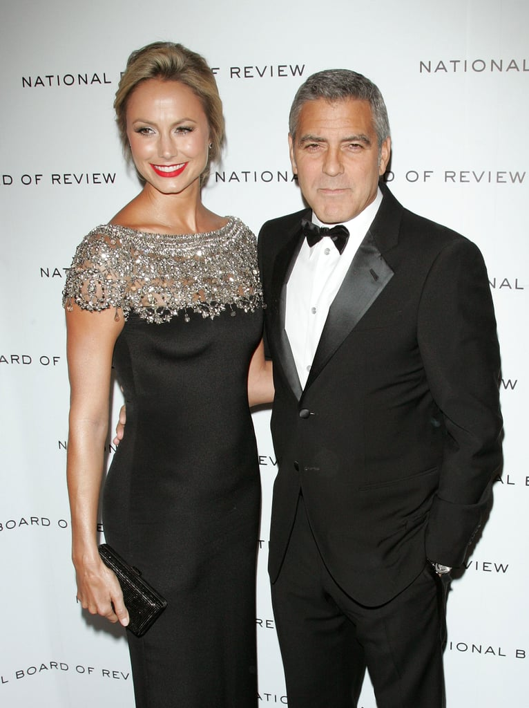 George Clooney and Stacy Keibler at the 2011 National Board of Review Awards gala.