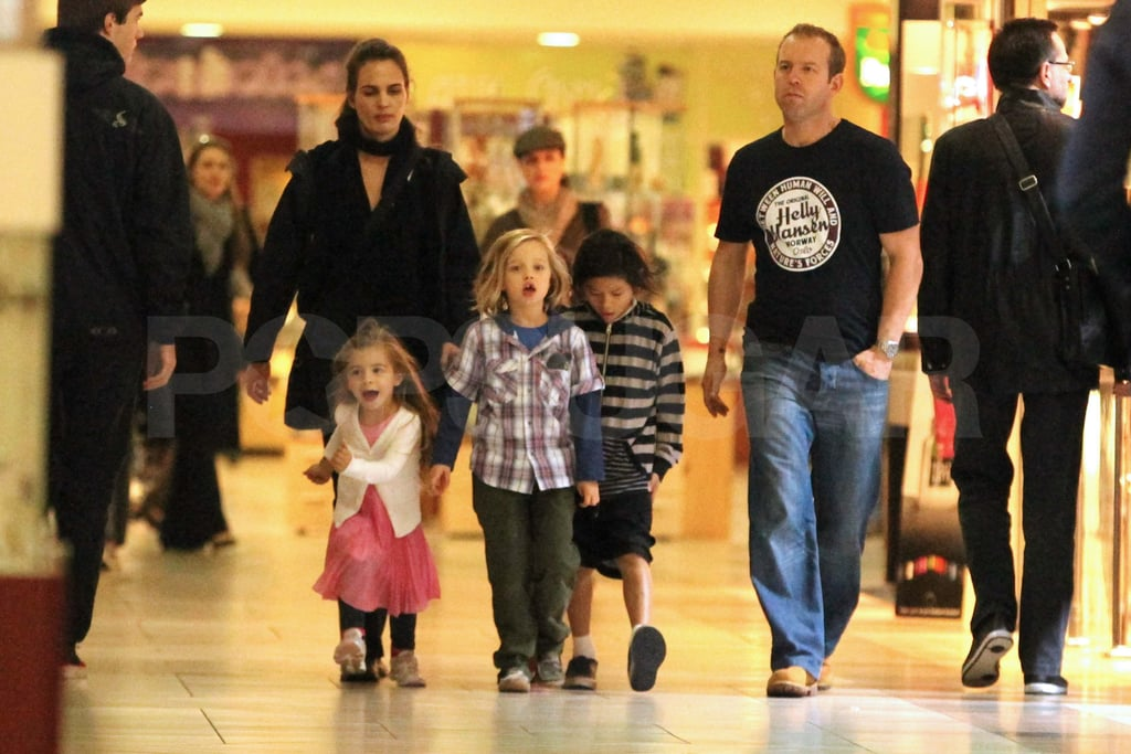 Shiloh and Pax at the mall in Hungary.