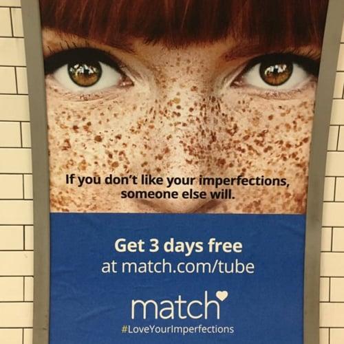 Match.com Freckles Ad