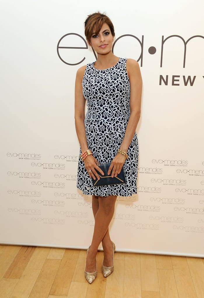 Eva Mendes Wearing New York & Company Dress