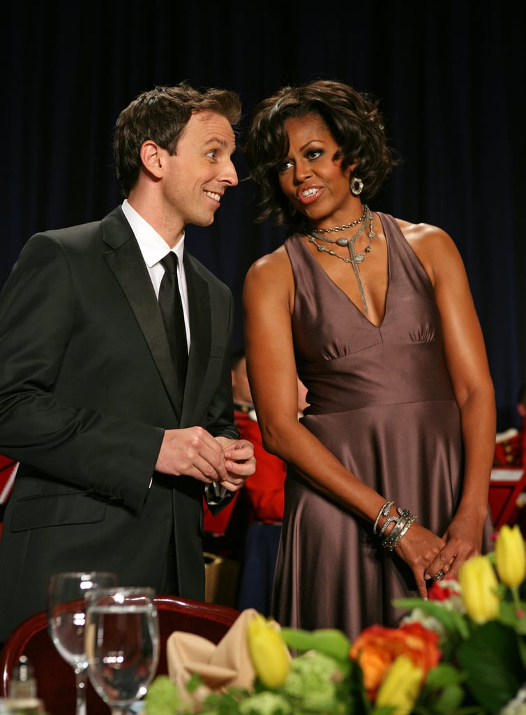 Seth Meyers and Michelle Obama